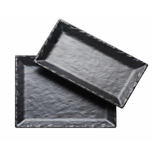Melamine Slate Platter by Cal-Mil
