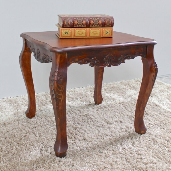Barron Hand Carved End Table by Astoria Grand Astoria Grand