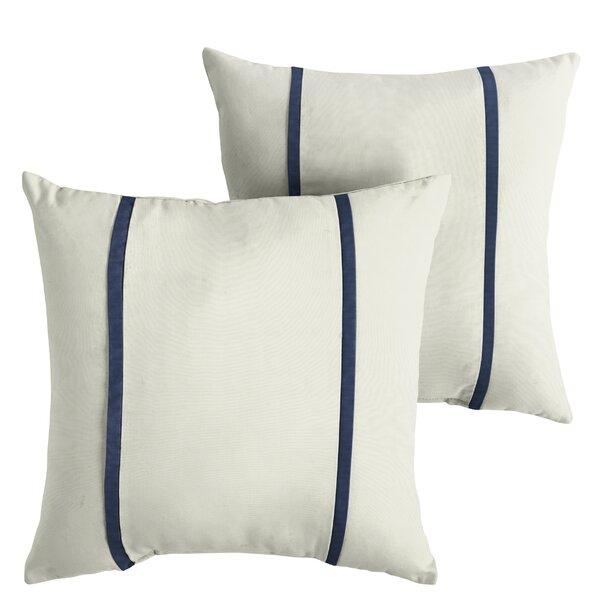 Flippen Indoor/Outdoor Sunbrella Throw Pillow (Set of 2) by Charlton Home