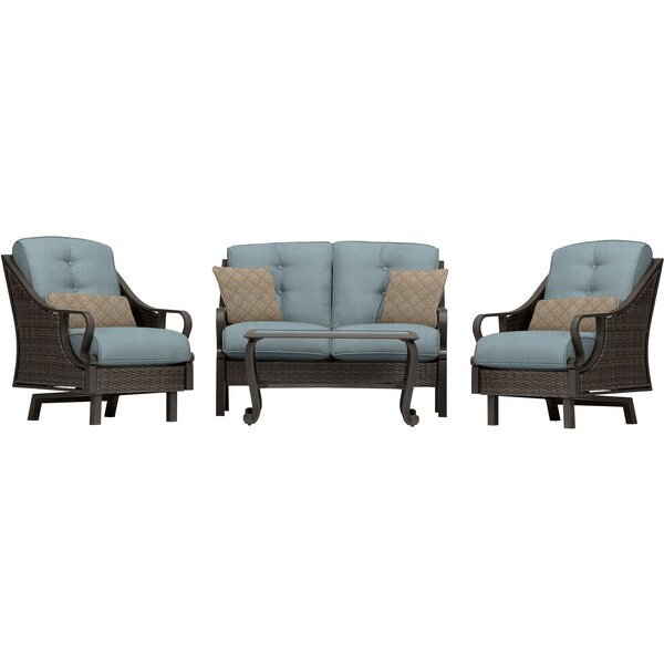 Sherwood 4 Piece Sofa Seating Group with Cushions by Three Posts