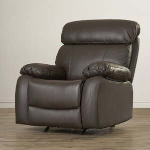 Franciscan Leather Manual Glider Recliner by..