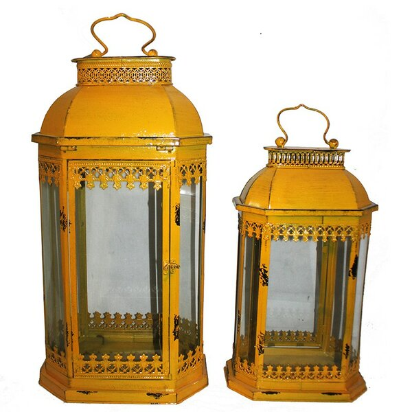 2 Piece Metal Lantern Set by ESSENTIAL DÉCOR & BEYOND, INC