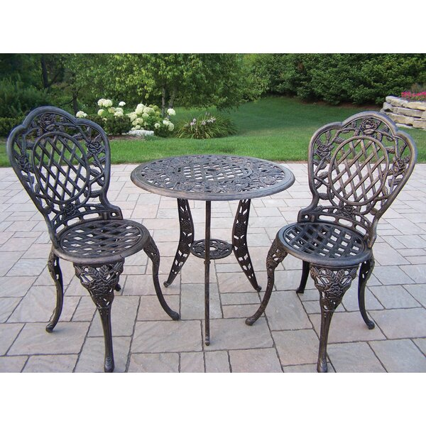 Tea Rose 3 Piece Bistro Set by Oakland Living