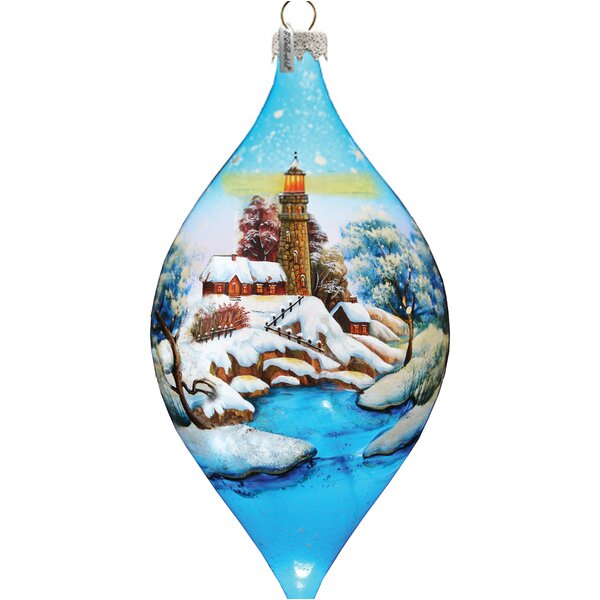 Winter House Glass Ornament by The Holiday Aisle