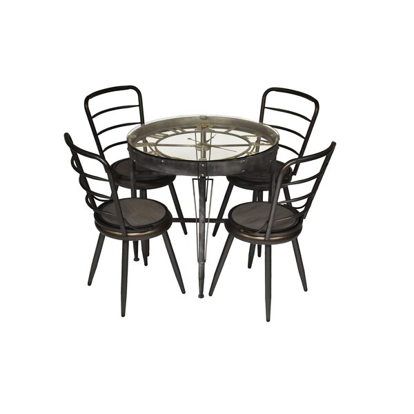Shunk 5 Piece Dining Set by Williston Forge Williston Forge