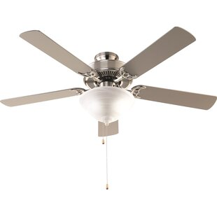 Kitchen ceiling fan with light wayfair 52 hamlett 3 light 5 blade ceiling fan aloadofball Image collections