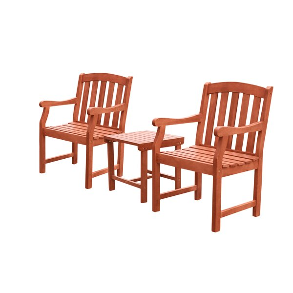 Monterry 3 Piece Bistro Set by Beachcrest Home