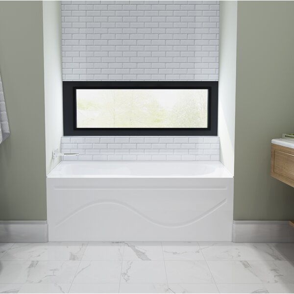 Acrylic 60 x 30 Alcove Soaking Bathtub by Kingston Brass