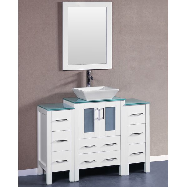Parsons 48 Single Bathroom Vanity Set with Mirror by Bosconi