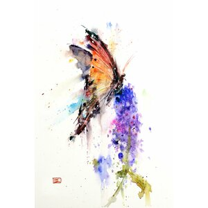 'Butterfly II' by Dean Crouser Painting Print on Wrapped Canvas by East Urban Home