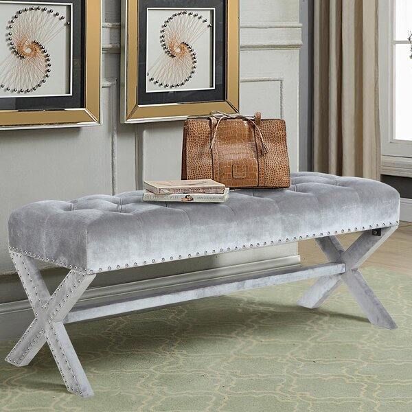 Marston Moretaine Upholstered Bench by House of Hampton