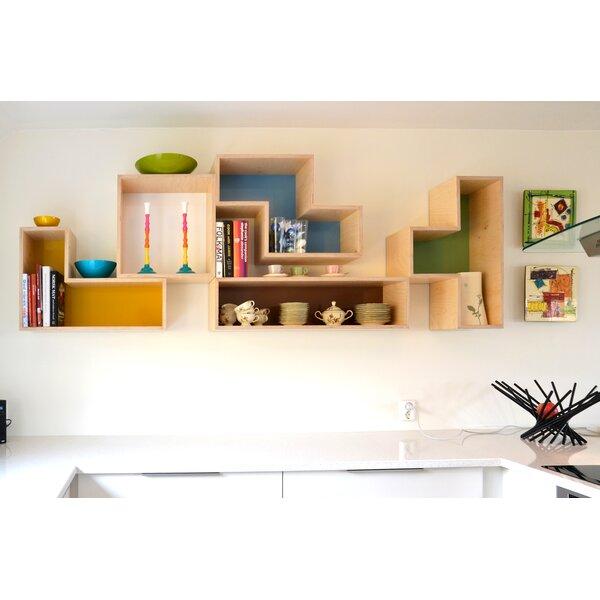 Tetrad Flat Geometric Bookcase by Brave Space Design