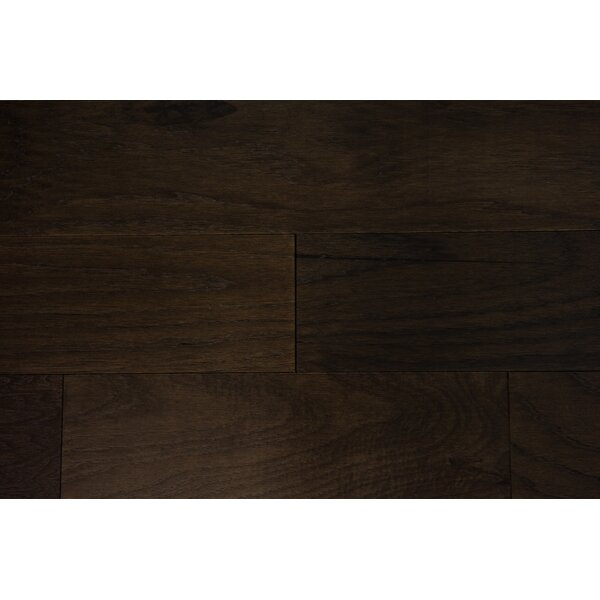 Lisbon 5 Engineered Hickory Hardwood Flooring in Espresso by Branton Flooring Collection