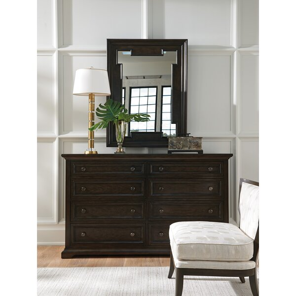 Brentwood 8 Drawer Double Dresser with Mirror by Barclay Butera
