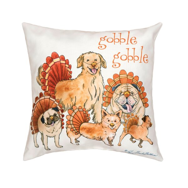 Fergerson The Gobblers Indoor/Outdoor Throw Pillow by The Holiday Aisle
