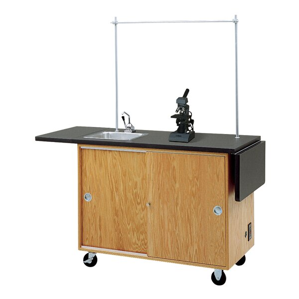 Mobile Laboratory Unit With Storage Cabinets by Diversified Woodcrafts