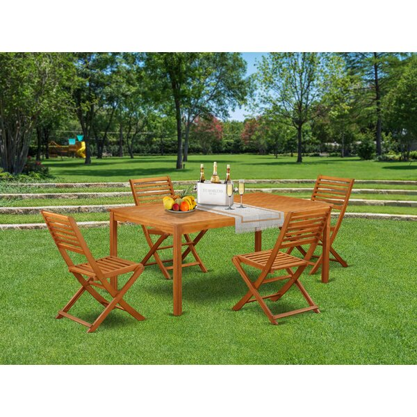 Clifton 5 Piece Patio Dining Set by Longshore Tides