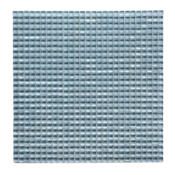 Atlantis 0.25 x 0.25 Glass Mosaic Tile in Marina Light Blue by Solistone
