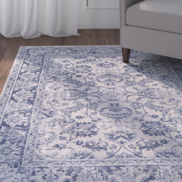 Refton Blue/Ivory Area Rug by Alcott Hill