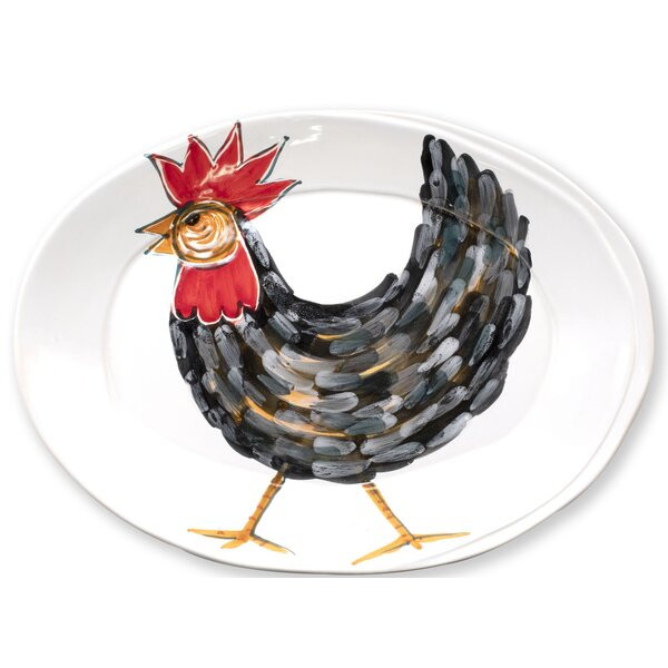 Fortunata Rooster Oval Platter by VIETRI