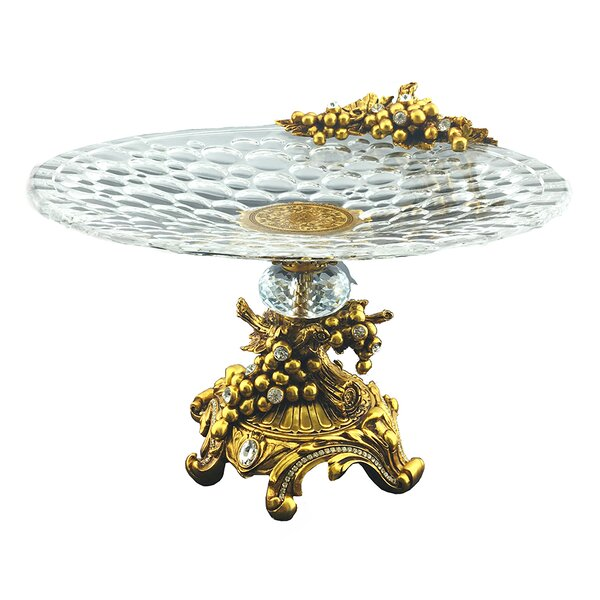 Hyman Elegant Sparkling Crystal Accented Platter by Astoria Grand