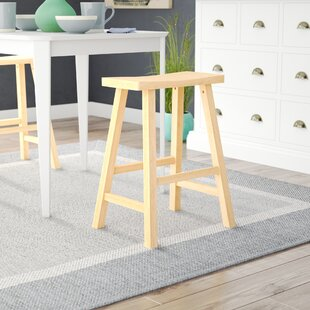 Toby 24 Backless Wood Bar Stool by August Grove