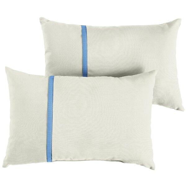 Fluker Indoor/Outdoor Sunbrella Lumbar Pillow (Set of 2) by Charlton Home