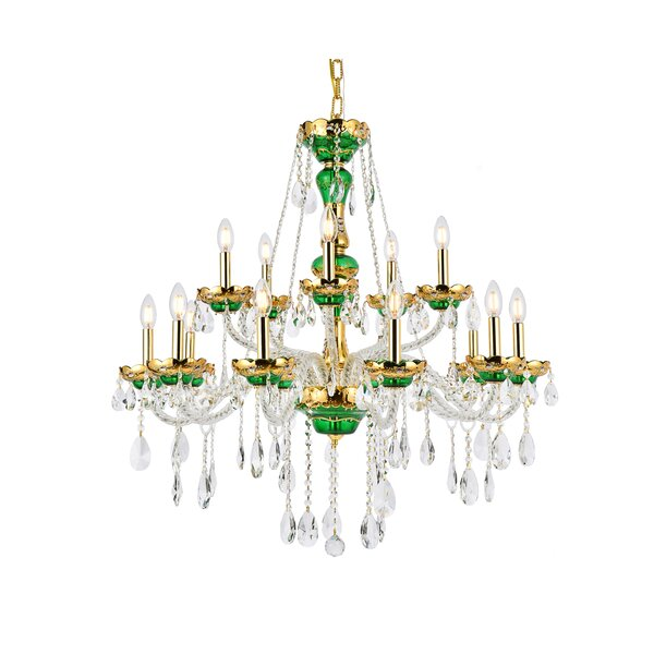 Schroeppel 15 - Light Candle Style Empire Chandelier with Crystal Accents by Astoria Grand Astoria Grand