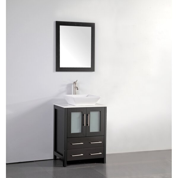 Knutsen 24 Single Bathroom Vanity Set with Mirror