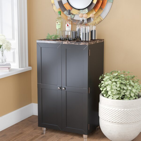 Oldsmar Bar Cabinet with Wine Storage by Latitude Run Latitude Run