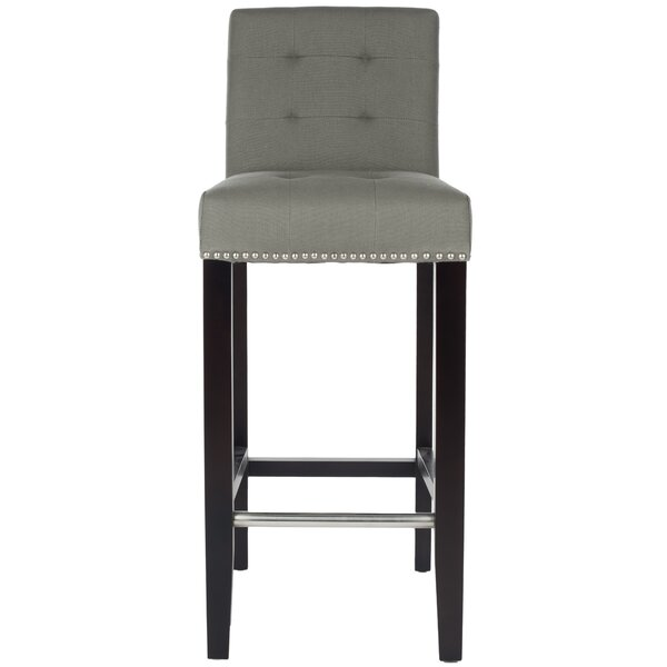 Rhona 30 Linen Bar Stool by Willa Arlo Interiors