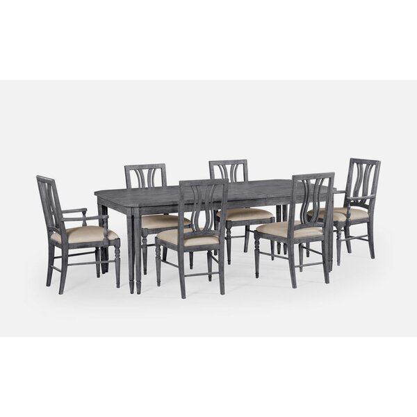 7 Piece Dining Table by Jonathan Charles Fine Furniture Jonathan Charles Fine Furniture