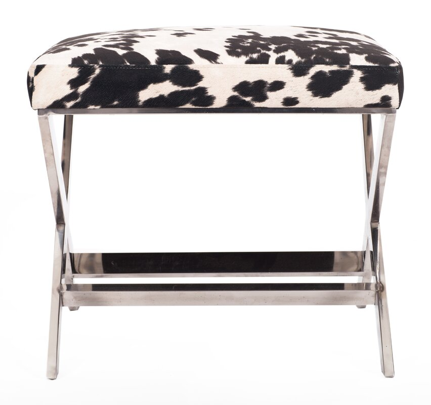 Diddle Cow Print Ottoman
