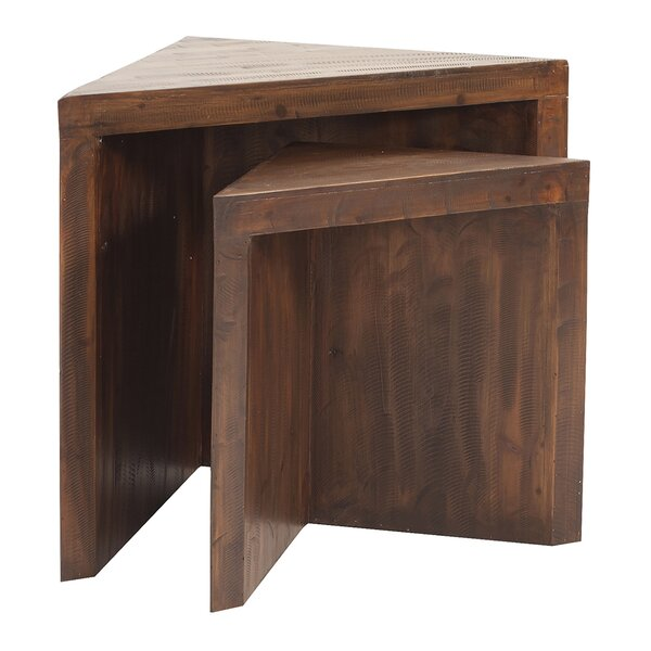 Helen Rustic Wood Nesting Tables by Langley Street
