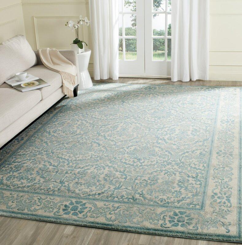 Lark Manor Montelimar Ivory Light Blue Area Rug Reviews Wayfair