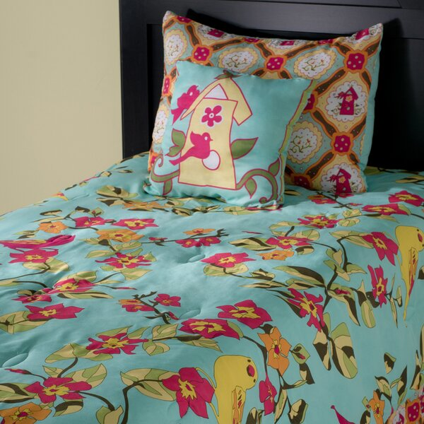 Birds in Paradise Kids 3 Piece Reversible Comforter Set by Wildon Home ®