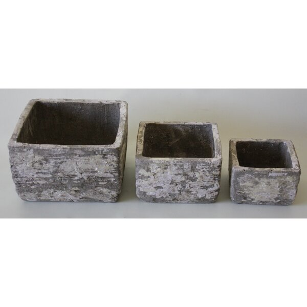 3-Piece Ceramic Planter Box Set by Desti Design