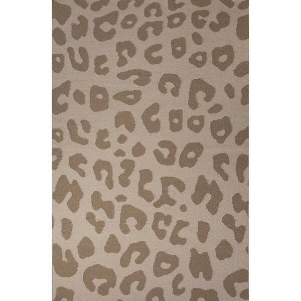 National Geographic Home Collection Wool Tan Leopard Flat Weave Area Rug by National Geographic Home