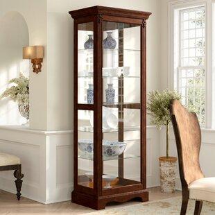Leafwood Lighted Curio Cabinet