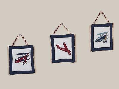 3 Piece Vintage Aviator Wall Hanging Set by Sweet Jojo Designs