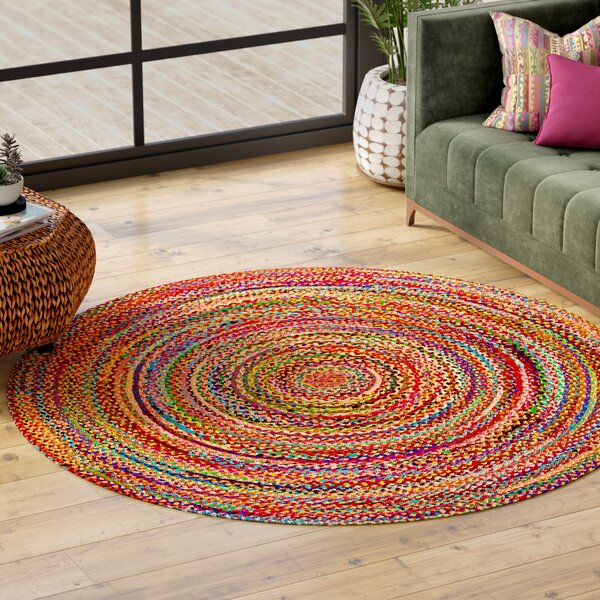 Coleman Handmade Purple/Pink/Yellow Area Rug by World Menagerie