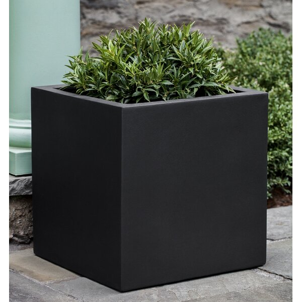 Hsu Square Fiberglass Planter Box by 17 Stories