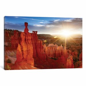 'Sunrise, Thor's Hammer, Bryce Canyon National Park, Utah, USA' Photographic Print on Wrapped Canvas by East Urban Home