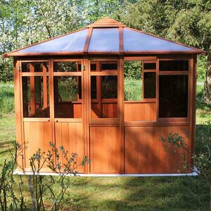 Solarus 10.5 Ft. W x 10.5 Ft. D Wood Permanent Gazebo
