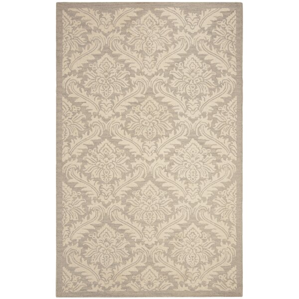 Preas Hand-Tufted Wool Brown/Ivory Area Rug by One Allium Way