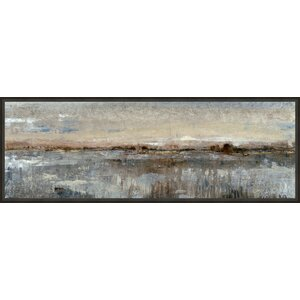 'Custom Gray Mist I' Framed Painting Print on Canvas by Ashton Wall Décor LLC