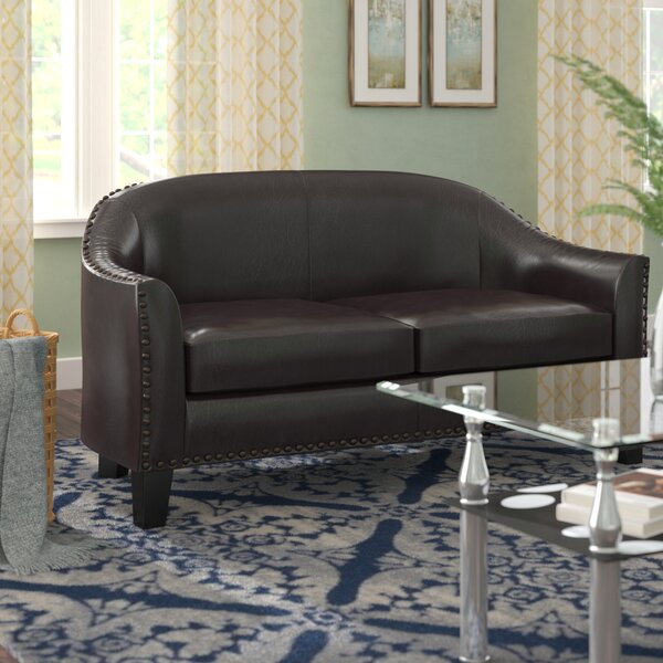 New Trendy Courtney Banquette Standard Loveseat by Andover Mills by Andover Mills