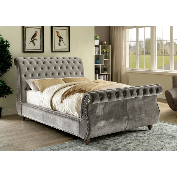Hatfield Upholstered Sleigh Bed by House of Hampton