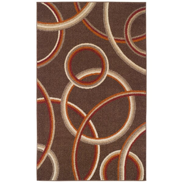 Meridian Brown Area Rug by Simple Luxury