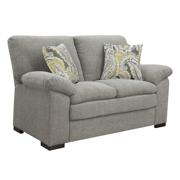 New Chic Kober Pebbled Standard Loveseat by Charlton Home by Charlton Home